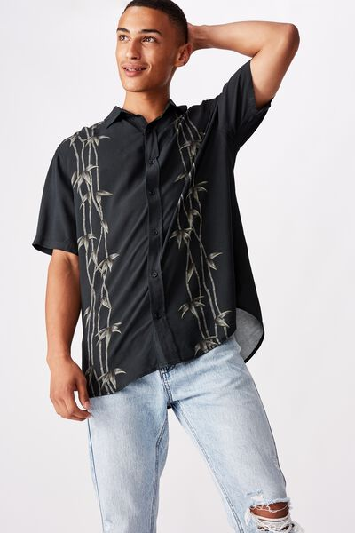 Short Sleeve Resort Shirt, BAMBOO PLACEMENT