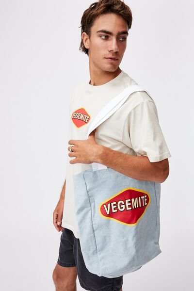 Special Edition Shoulder Tote, LCN VEGEMITE/BLUE DENIM