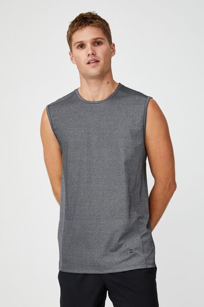 Active Tech Muscle, LIGHT GREY SPACE MARLE MESH