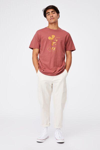 Tbar Collab Character T-Shirt, LCN DIS OX BLOOD/MICKEY MOUSE-METALLIC