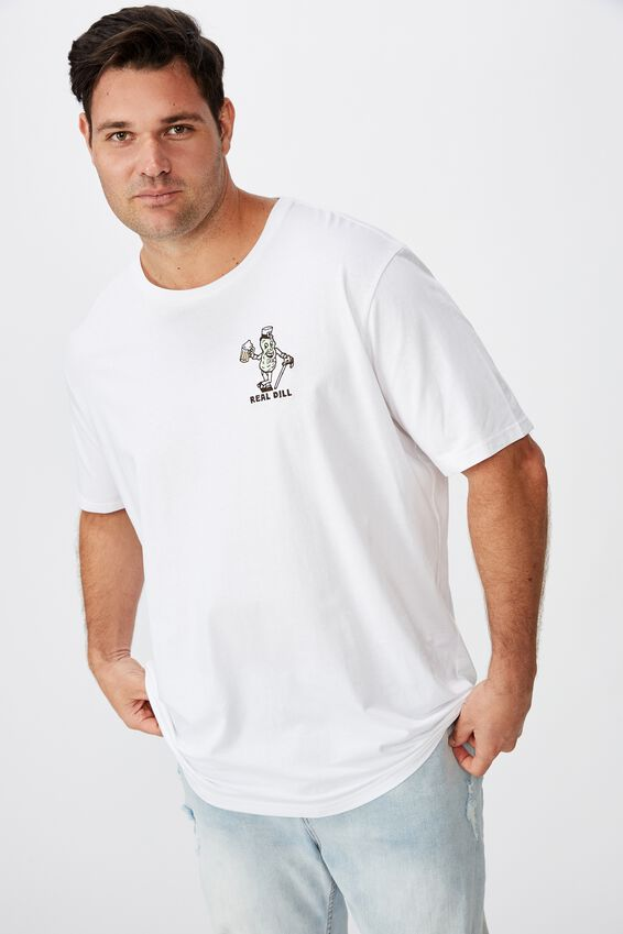 Tbar Tee, WHITE/REAL DILL