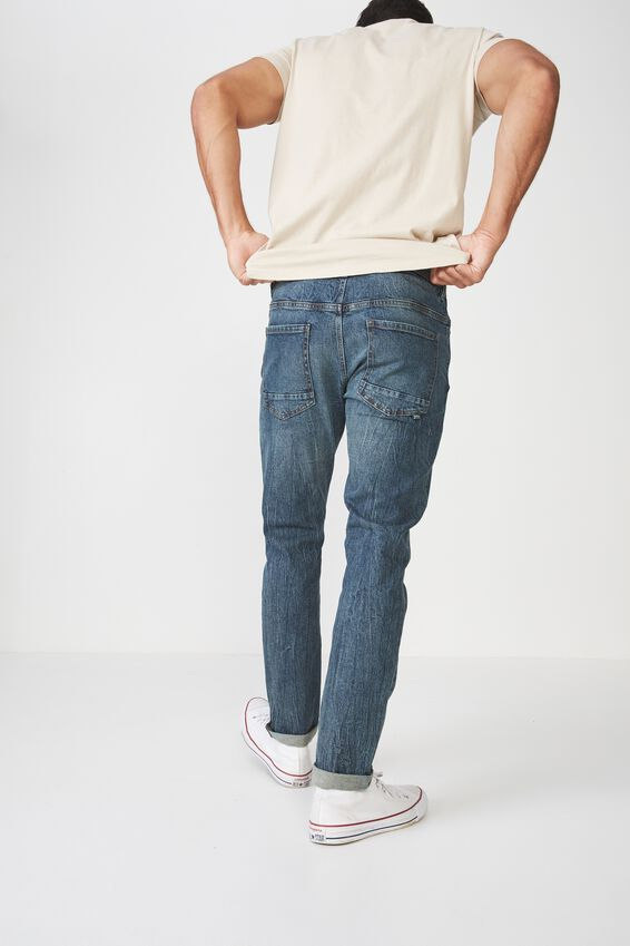 Tapered Leg Jean, FRACTURE BLUE