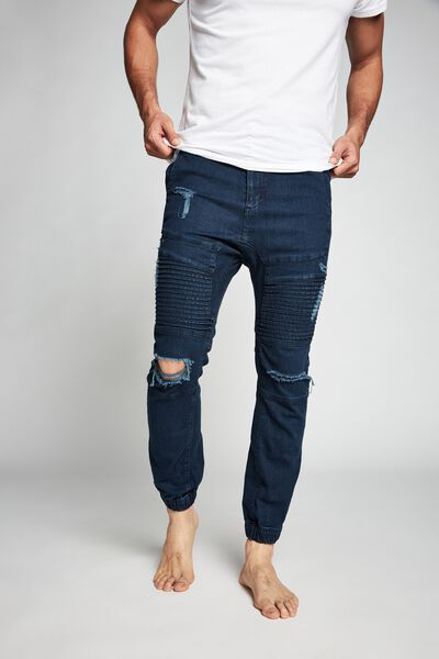 Slim Denim Jogger, OPTIC BLUE MOTO