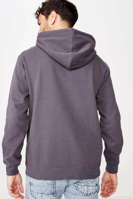 Fleece Pullover 2, FADED SLATE/WHITE HAWK