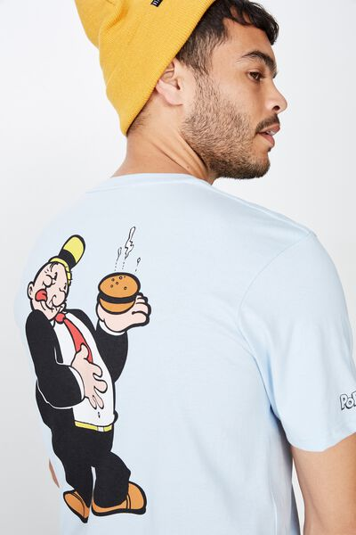 Tbar Collab Character T-Shirt, LCN POP BLUE MIST/WHIMPY BURGER