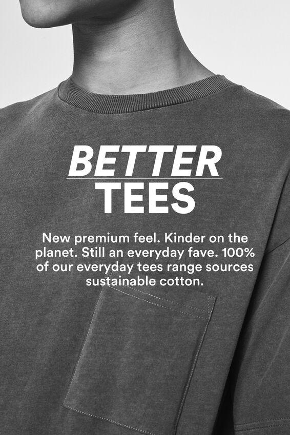 Essential Longline Scoop T-Shirt, WHITE