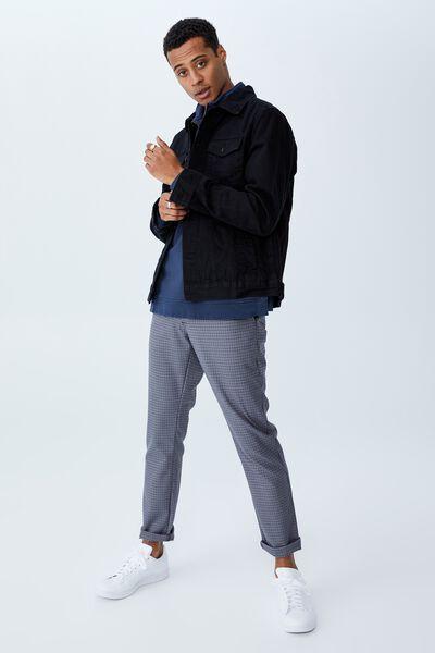 Skinny Stretch Chino, BLUE HOUNDSTOOTH