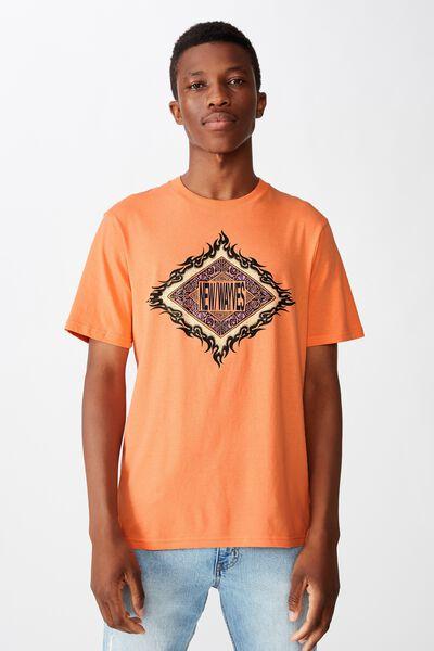 Tbar Art T-Shirt, SK8 SHERBET ORANGE/NEW WAYVES DIAMOND