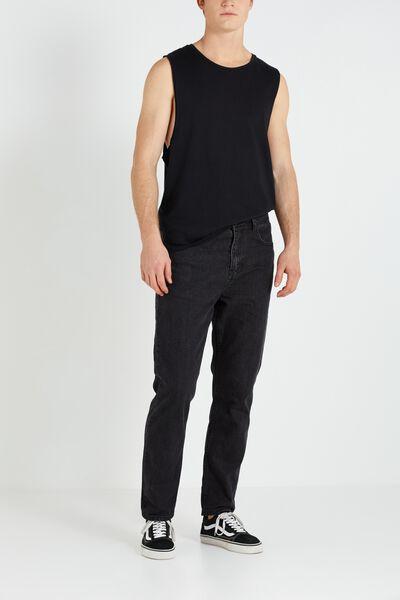 Slouch Tapered Leg Jean, ROADIE BLACK