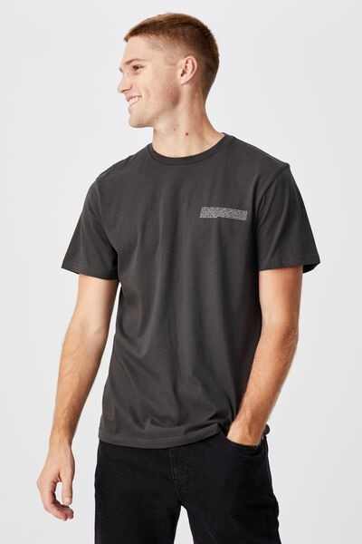Tbar Text T-Shirt, WASHED BLACK/THE COSMOS
