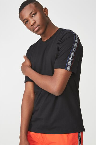 Downtown Loose Fit Tee, BLACK/UNTITLED TAPING