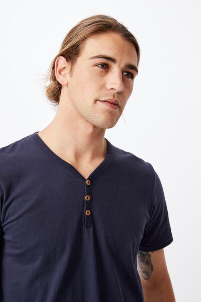 Essential Henley T-Shirt, TRUE NAVY