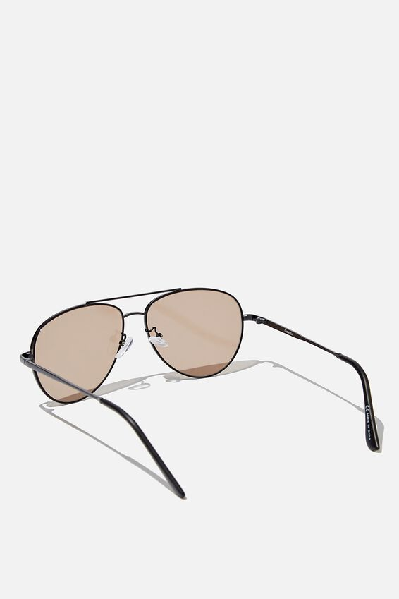 Marshall Sunglasses, MATTE BLACK BLACK GOLD FLAT