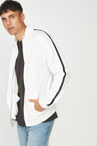 Tricot Jacket, WHITE