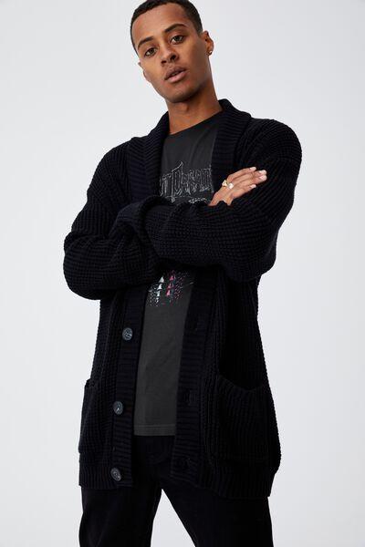 Shawl Cardigan, BLACK