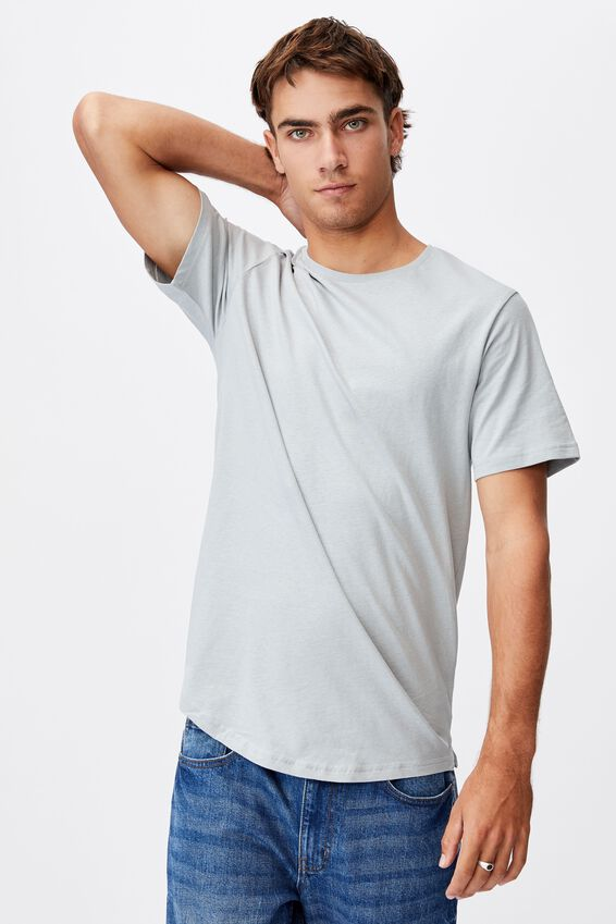 Essential Longline Scoop T-Shirt, BLUE HAZE
