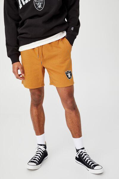 Active Nfl Fleece Short, LCN NFL GOLD/RAIDERS