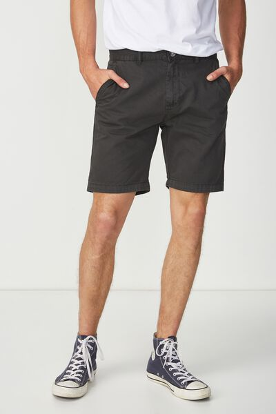 Washed Chino Short, WASHED BLACK