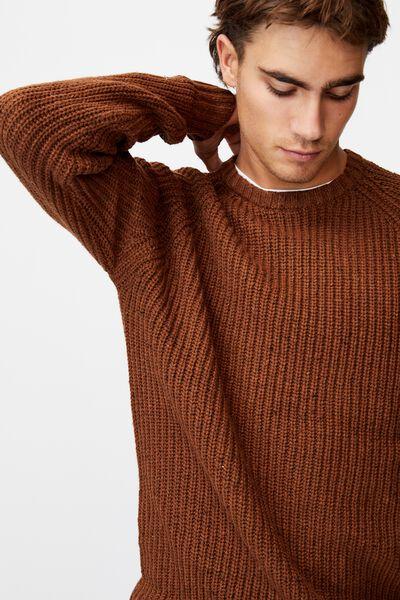 Fisherman Knit, CHOCOLATE MARLE NEP