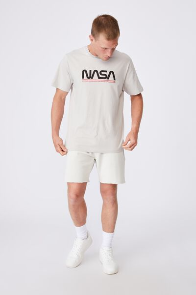 Tbar Collab Pop Culture T-Shirt, LCN NAS LIGHT SMOKE/NASA-LOGOTYPE