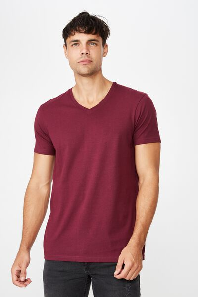 Essential Vee Neck, PORT WINE