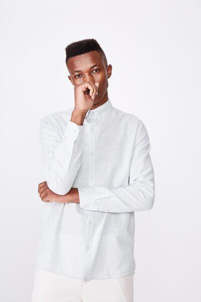 Premium Linen Cotton Long Sleeve Shirt, JADE