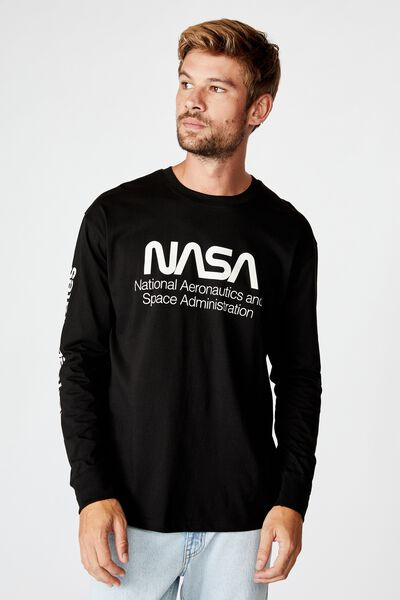 Tbar Collaboration Ls Tee, LCN NAS BLACK/NASA - SPACE ADMINISTRATION