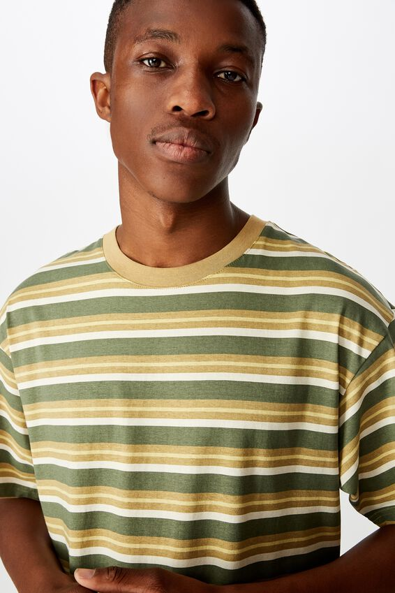 Dylan Tee, BUSH GREEN/PEARL/CAMEL/FROSTED HONEY/STRIPE