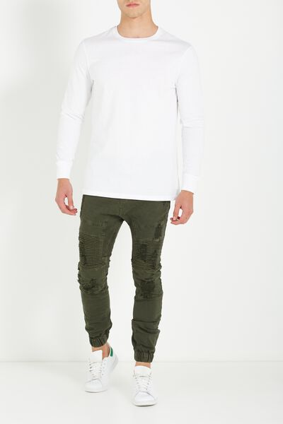 Slim Denim Jogger, BRONZE GREEN DECON