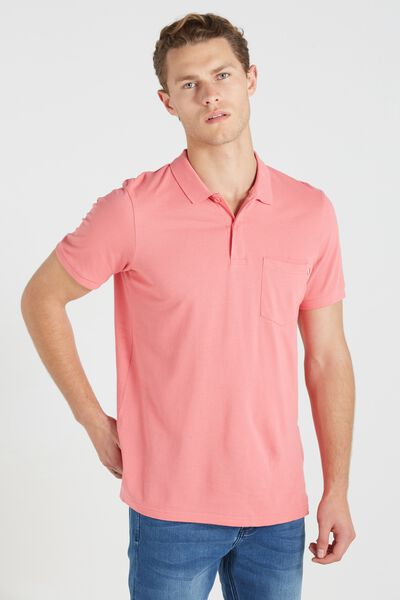 Short Sleeve Icon Polo Regular Fit, PINK/ POCKET