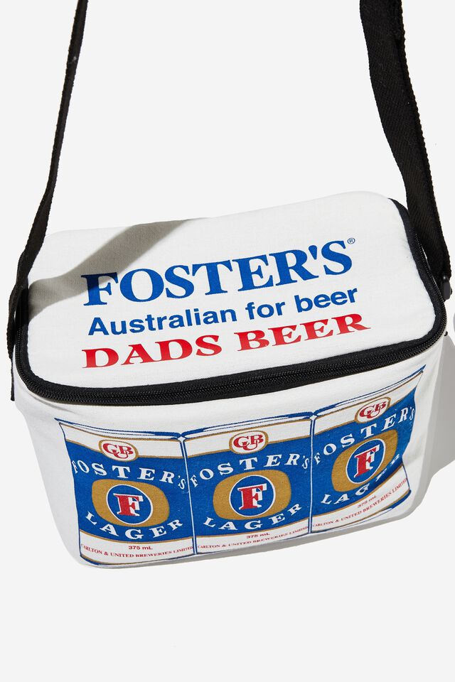 Fosters Cooler Bag Personalised, LCN FOS VINTAGE WHITE/ 6 PACK