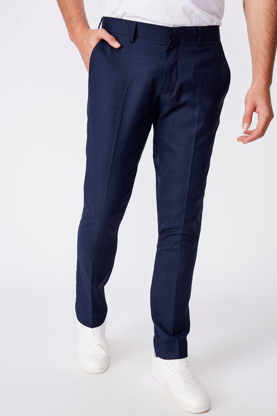Slim Stretch Suit Pant, NAVY