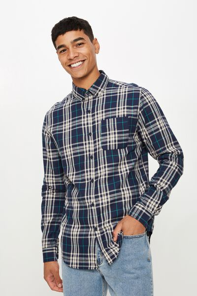 Brunswick Shirt 3, NAVY BOLD CHECK