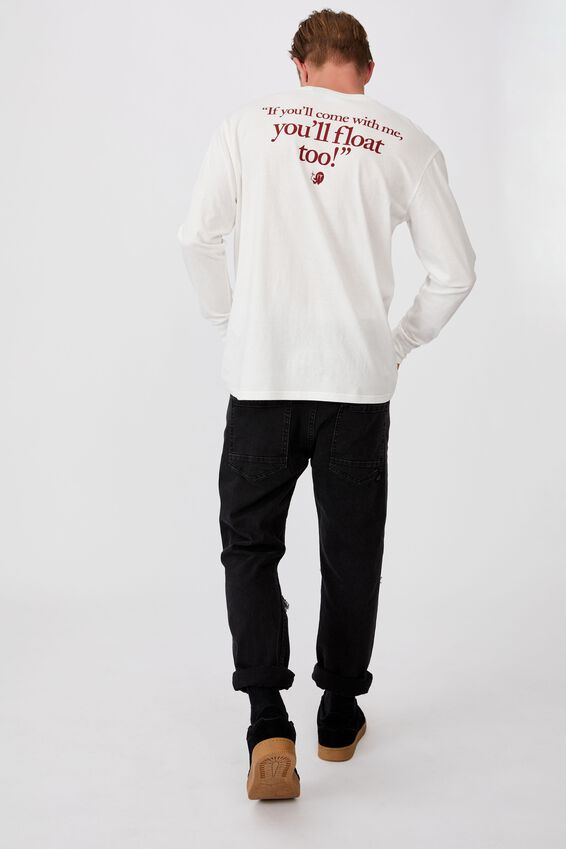 Tbar Collab Ls Tee, LCN WB VINTAGE WHITE/IT - YOULL FLOAT TOO