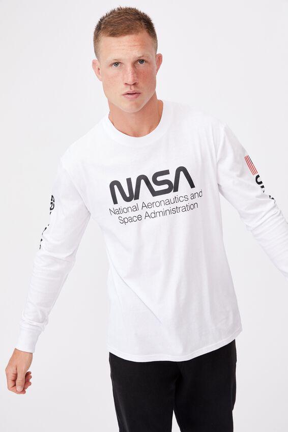 Tbar Collab Long Sleeve T-Shirt, LCN NAS WHITE/NASA-SPACE ADMINISTRATION