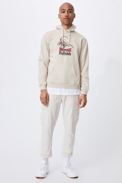 Graphic Fleece Pullover, PEARL/BADLANDS