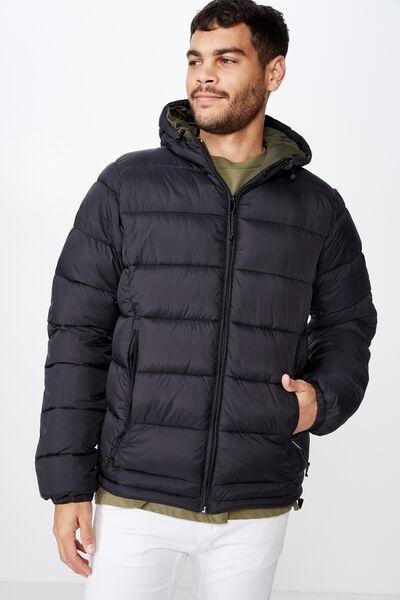 Nu Puffer Jacket, BLACK