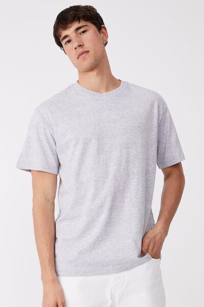 Organic Loose Fit T-Shirt, LIGHT GREY MARLE