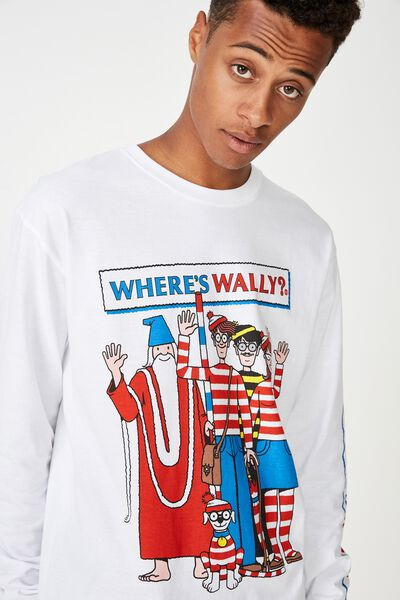 Tbar Collaboration Ls Tee, LC WHITE/WHERE'S WALLY-GANG