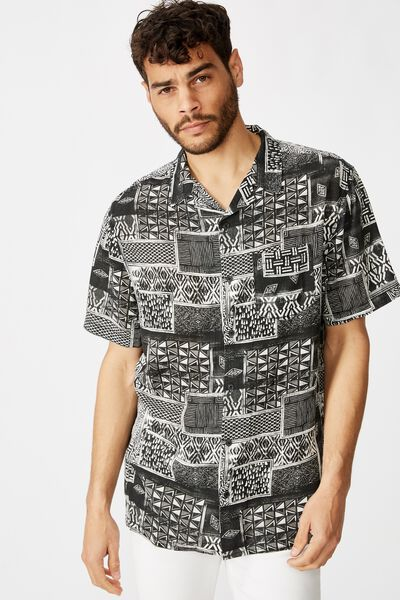 91 Short Sleeve Shirt, TRIBAL SQUARES