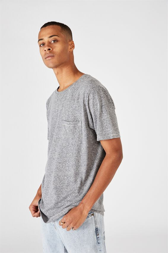 Slub Crew T-Shirt, MID GREY TWIST