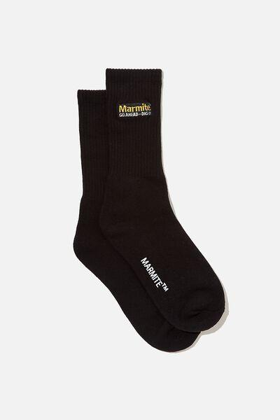 Special Edition Active Sock, LCN MARMITE/BLACK