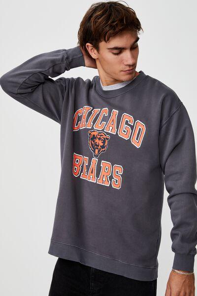 Premium Collab Crew Fleece, LCN NFL FADED SLATE/CHICAGO BEARS