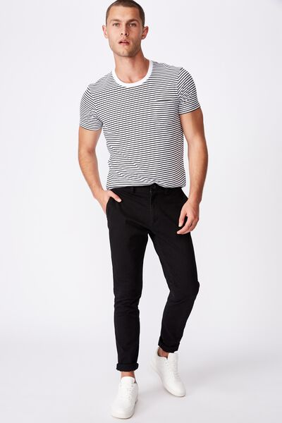 Skinny Stretch Chino, BLACK