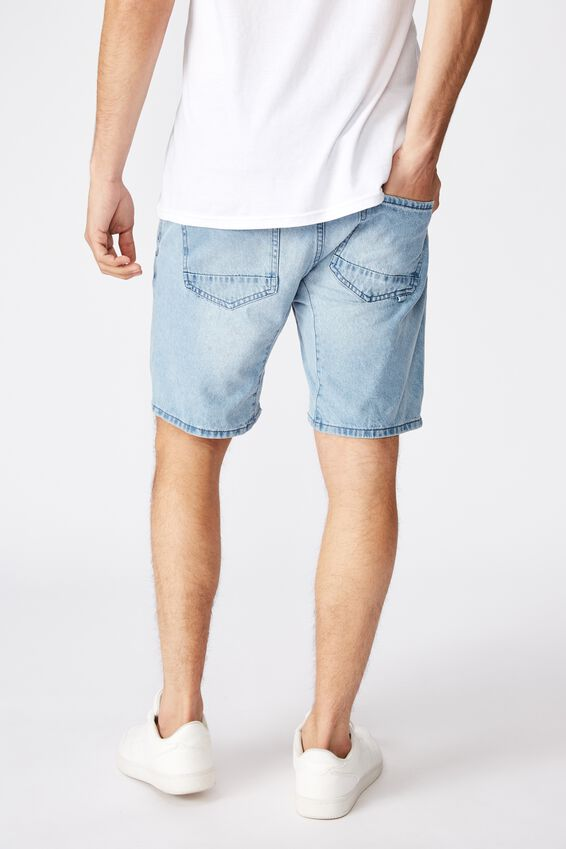 Customized Denim Short, RIGID LIGHT  BLUE