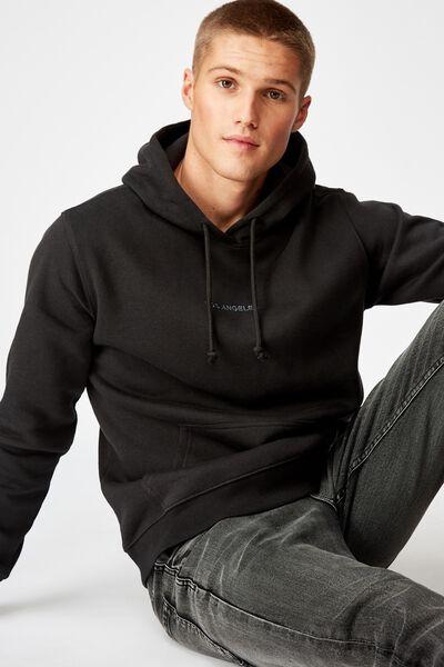 Fleece Pullover 2, WASHED BLACK/LOS ANGELES