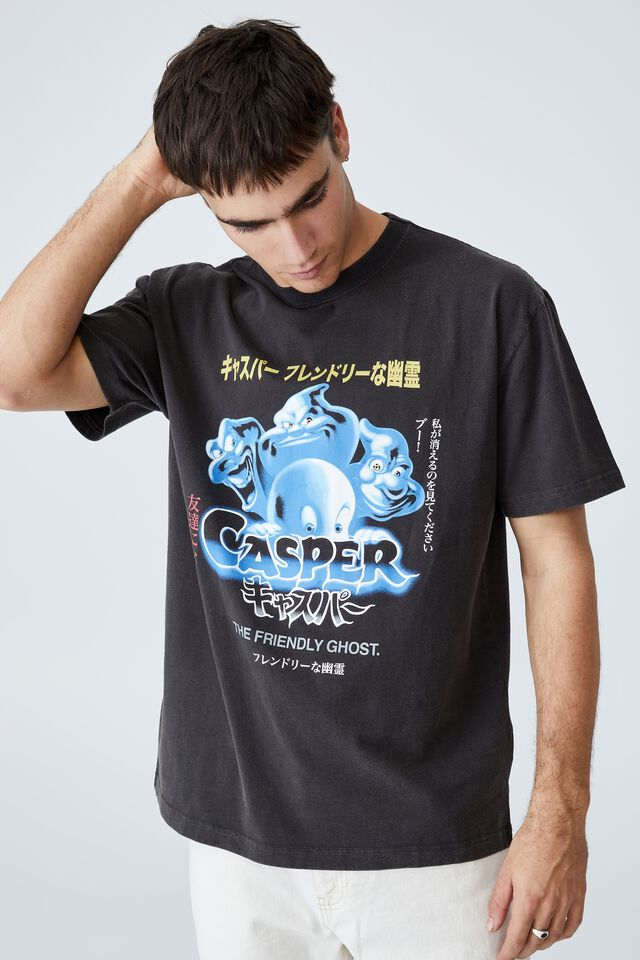 Special Edition T-Shirt, LCN UNI WASHED BLACK/CASPER - JAPANESE POSTER