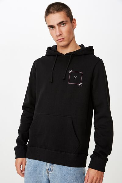 Fleece Pullover 2, BLACK/NYC SQUARE
