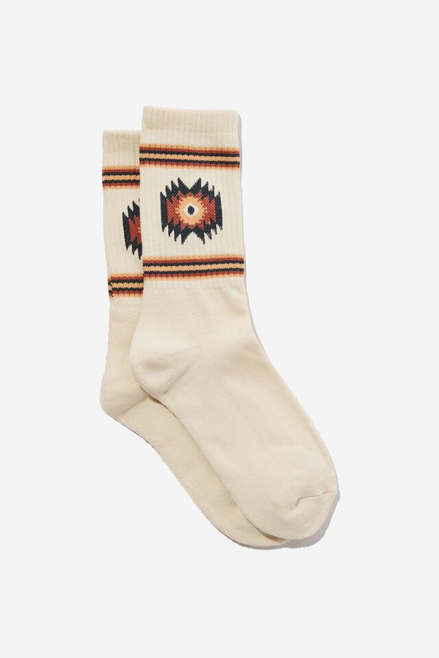 Essential Active Sock, ECRU/PEACH IKAT