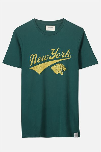 Tbar Tee 2, POSY GREEN/NEW YORK TIGER